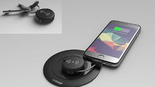 Aircharge - Wireless Charging Lightning and Micro USB Keyring Receiver