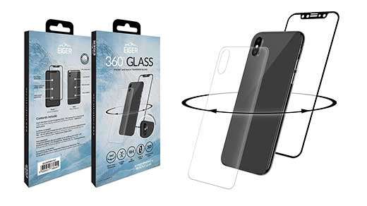 Eiger Glass - Eiger 3D 360 GLASS Tempered Glass Screen Protector